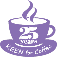KEEN for Coffee 25 Years Logo